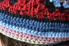 Close up of the brim