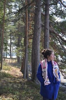 Thilda strolls through the woods