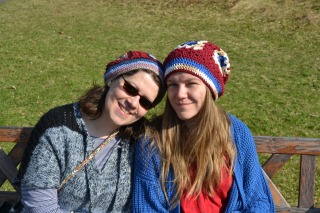Me and Stina, hat buddies