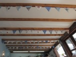 Bunting everywhere!