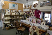 Inside the yarn shop in Perrantnuthnoe.
