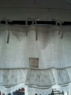 Light and airy curtains.