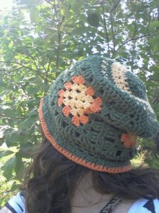 Hat from side-back view.