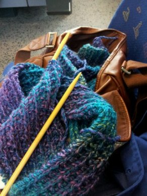 School satchel, rare knit moment during hectic first working week