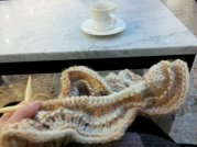 Coffee and yarn.