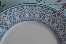 Mum's plates have pattern.