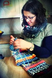 Industrious knitter.