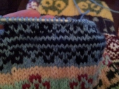 "Then knitted the ""bowl"" up."