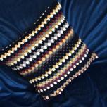 Back, rows of treble crochet
