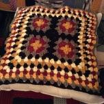 Progress check, 40cm square cushion