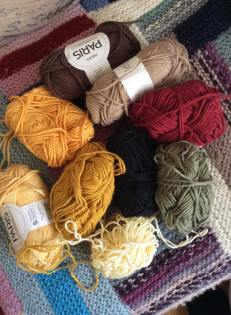 Yarn stash: Drops Paris and Järbo soft black cotton