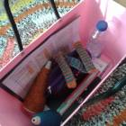 My new basket issued by school, though I picked pink. :)