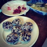 Sara's blueberry muffins rapidly disappearing