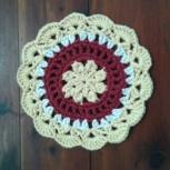 A mini mandala I made to thank Sara.