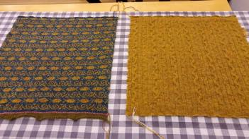 Blocking 2 of the 4 squares, each 40 cm x 40 cm.