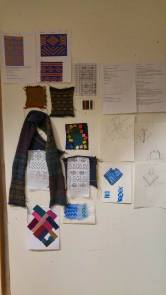 Presentation board: inspiration, test knitting, sketches, processes.