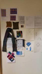 Presentation board: inspiration, test knitting, sketches, processes.