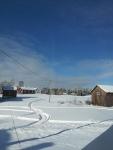 Wintery skies.
