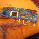Intarsia close up